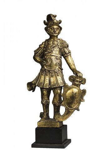 Renaissance gilt bronze warrior