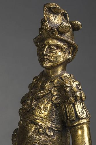 Renaissance gilt bronze warrior  - Sculpture Style Renaissance