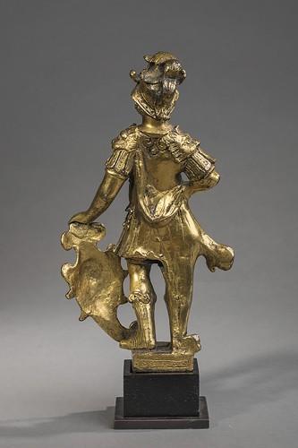 Sculpture  - Renaissance gilt bronze warrior