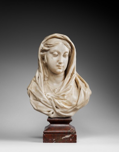 Virgin Bust - Giovanni Bonazza (1654-1736) - Sculpture Style Louis XIV