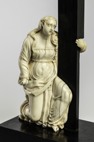 Crucifixion Ivory, Italy end of the 17th century - Sculpture Style French Regence