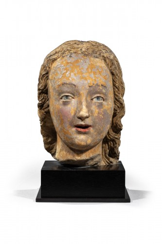 Head of Woman, Loire Valley First half of the 16th century