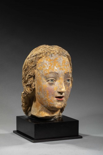Head of Woman, Loire Valley First half of the 16th century - Sculpture Style Middle age