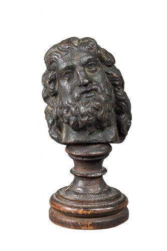 Man head in bronze, Antique or after the Antique - Italy xvi