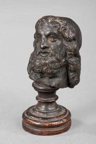 Sculpture  - Man head in bronze, Antique or after the Antique - Italy