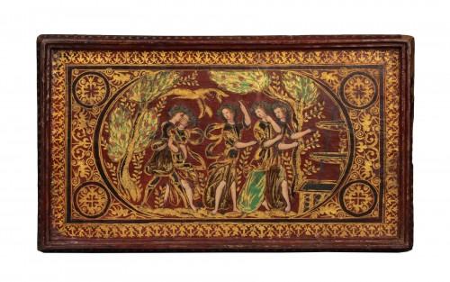 Renaissance leather box The fountain of youth - Tuscany V 1600