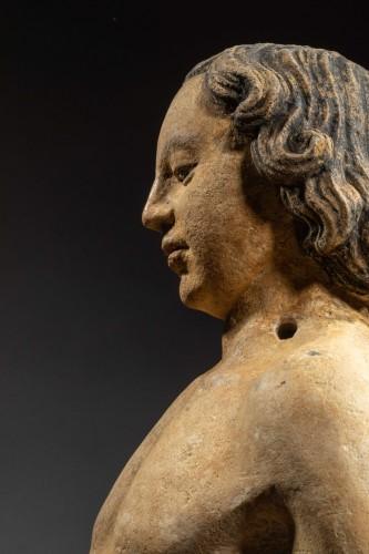 Follower of Antoine Le Moiturier, St Sebastian -Burgundy, late 15th century - Sculpture Style Middle age