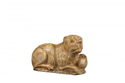Alabaster Lion - Spain, Late 15th Century