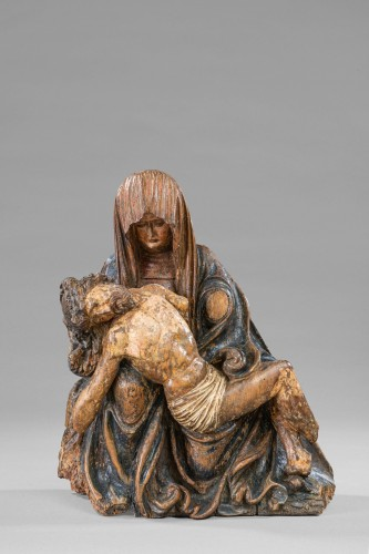 Pietà - Circle Of The Master Of Rabenden, Germany early 16th Century - Sculpture Style Middle age