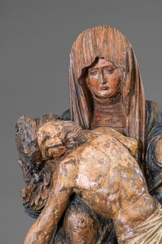 <= 16th century - Pietà - Circle Of The Master Of Rabenden, Germany early 16th Century