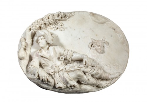 Resting Shepherd - Carrara Marble Northern Italy (Venice) 18th century