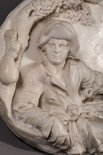 18th century -  Resting Shepherd - Carrara Marble Northern Italy (Venice) 18th century