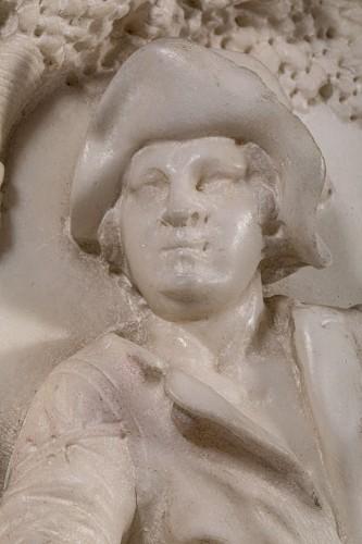 Resting Shepherd - Carrara Marble Northern Italy (Venice) 18th century - Directoire