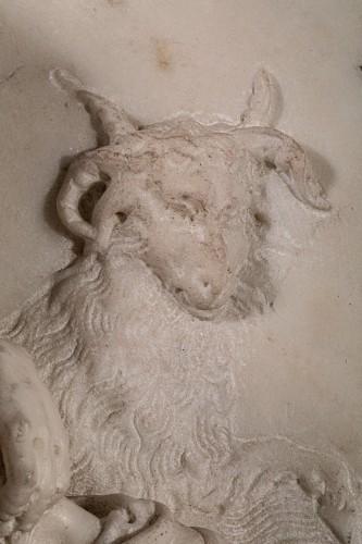 Directoire -  Resting Shepherd - Carrara Marble Northern Italy (Venice) 18th century