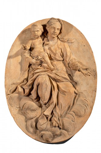 Virgin and Child - Terracotta Medallion, Italy (Bologna?), 18th century