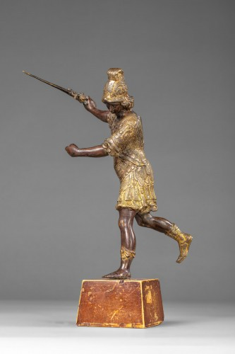 Saint Michael in bronze Entourage of Lorenzo Vaccaro - Naples, late 17th c - Sculpture Style Transition