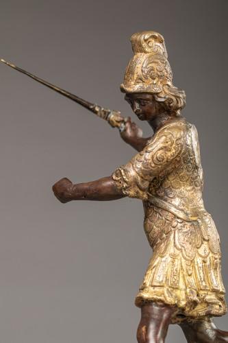 Sculpture  - Saint Michael in bronze Entourage of Lorenzo Vaccaro - Naples, late 17th c