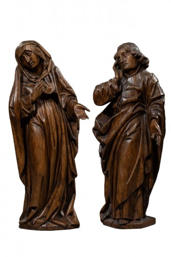 Mourning Virgin and Saint John - Southern Netherlands 15th century