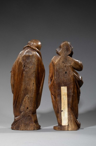 Mourning Virgin and Saint John - Southern Netherlands 15th century - Sculpture Style Middle age