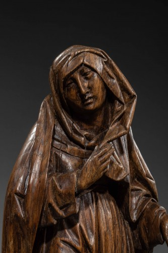 Sculpture  - Mourning Virgin and Saint John - Southern Netherlands 15th century