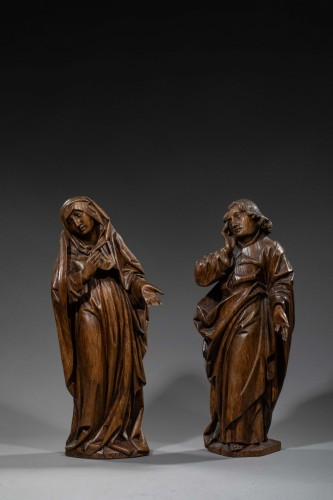 <= 16th century - Mourning Virgin and Saint John - Southern Netherlands 15th century