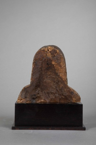 Man's bust in oak - South Netherlands, 15th century - Sculpture Style Middle age
