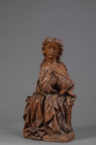 Virgin in Walnut - Köln(?), End of the fourteenth century - Sculpture Style Middle age