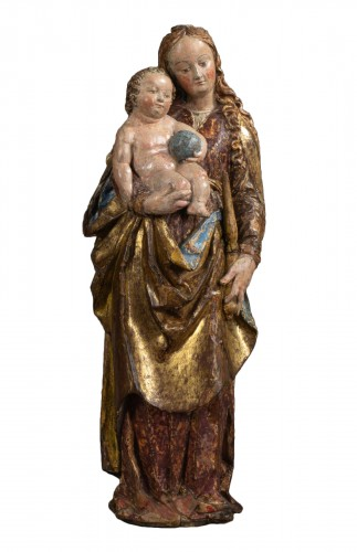 Virgin and child in lime-tree - South of Germany, beginning of the 16th cen