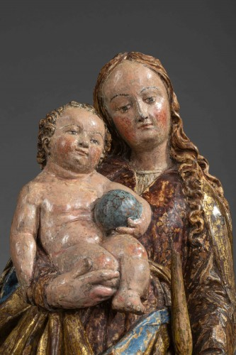 Virgin and child in lime-tree - South of Germany, beginning of the 16th cen -