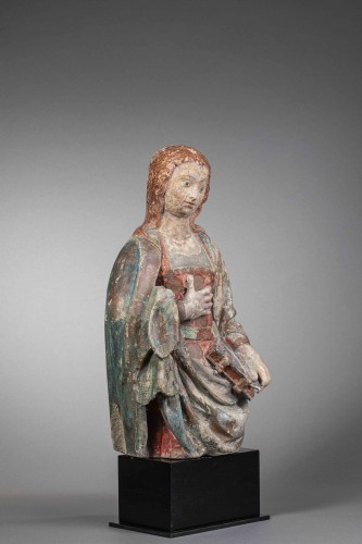 Virgin of the Annunciation - Guyenne, Late 15th century - Sculpture Style Middle age