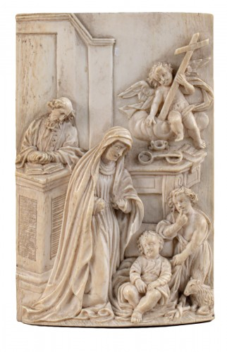 Holy Family in Ivory - South Germany, mid-17th century