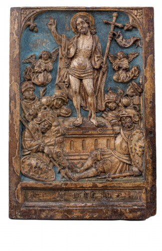 Pair of german gothic  altar panels end of the 15th century