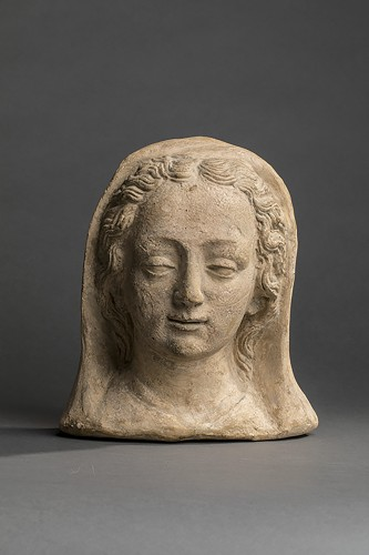 Sculpture  - French Head of a woman in terracotta XVII century