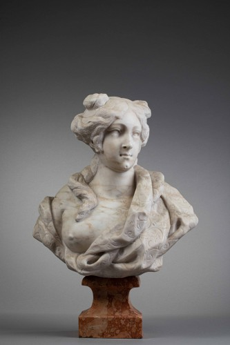 Sculpture  - Bust of a woman - Giovanni Bonazza (1654-1736)