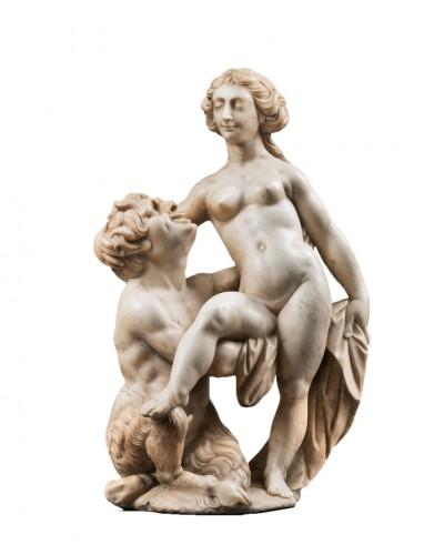 Nymph & Satyr inspired by an engraving of Giolio Bonasone(1510-1576)