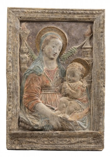 Virgin and Child after A.Rossellino (1428-1479)