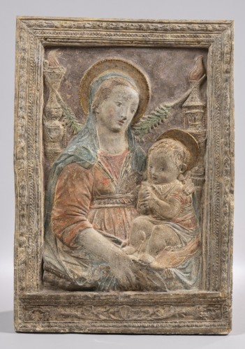 <= 16th century - Virgin and Child after A.Rossellino (1428-1479)