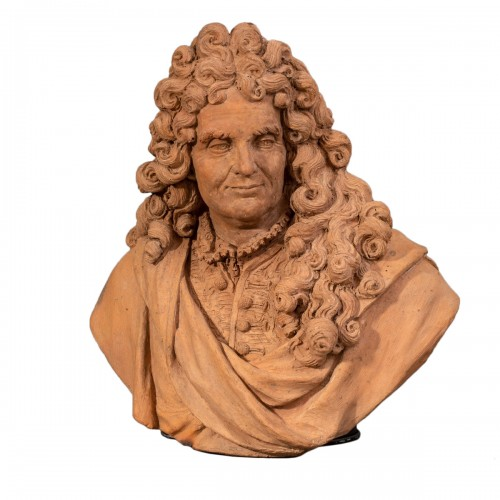 Bust of an intellectual in terracotta - Follower of Slodtz, 18th century
