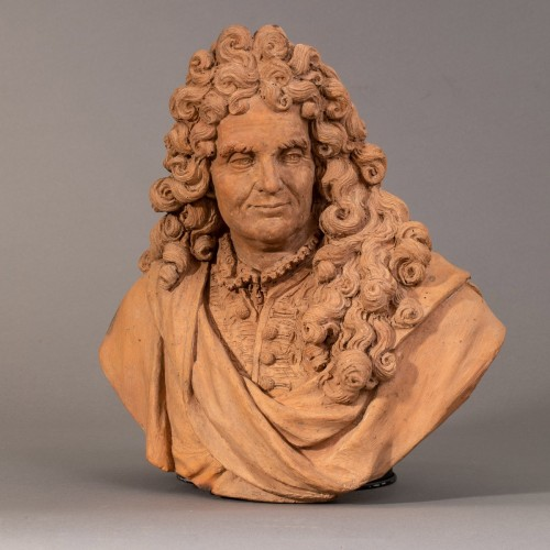 Bust of an intellectual in terracotta - Follower of Slodtz, 18th century - Sculpture Style Louis XV