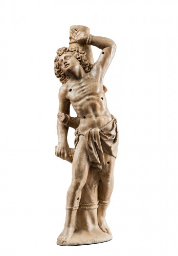 Attributed to Jörg Zürn - Saint Sebastian in albaster, Swabia, c. 1625