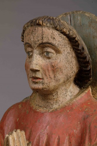 Donor in prayer - Duchy of Savoy, 15th century - Sculpture Style Middle age