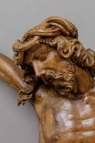 Monumental Christ -  Southern Netherlands, 16th century - Sculpture Style Middle age