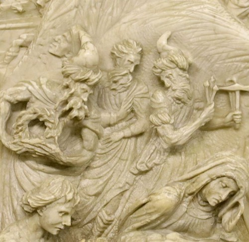 <= 16th century - Deposition in alabaster - Southern Netherlands or Germany, 16th century