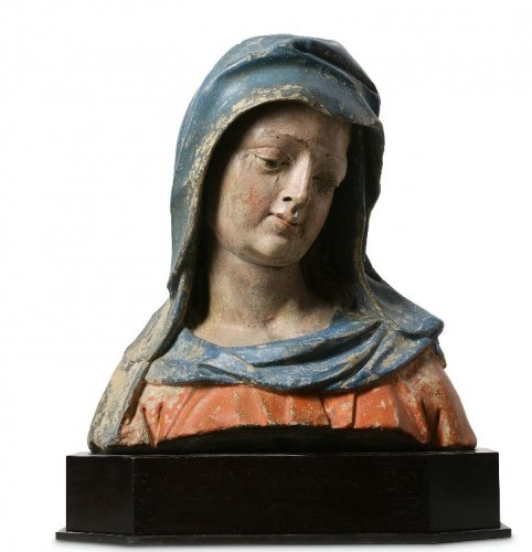 Bust of the Virgin - Lower Rhine, Late 15th / early 16th century  - Sculpture Style Middle age