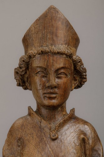 Saint bishop in oak - North of France, first half of the 14th century -