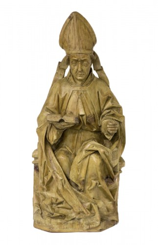 German gothic figur of a  bishop