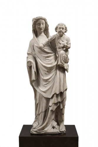 Virgin and Child, Limestone, Champagne (Seine-et-Marne), mid 14th century