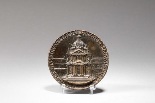"""Jean Warin - Bronze  Medal """"Le Val-de-Grâce"""" - Sculpture Style Louis XIV"""