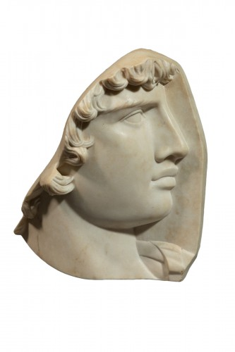 Antinoüs - Neoclassical marble bas-relief
