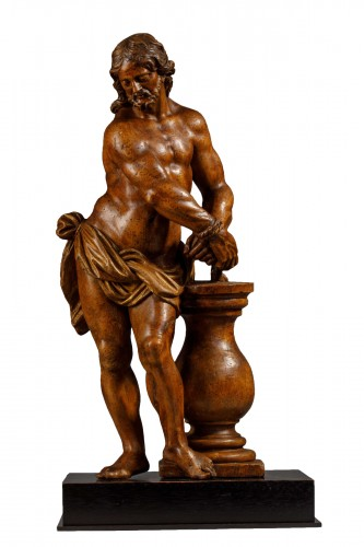 Christ with the column in fruit wood - Italy (Naples?), 17th century
